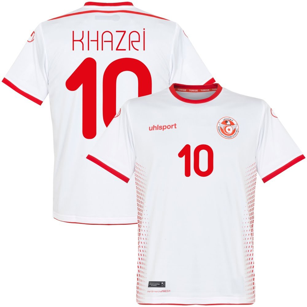 Uhlsport Tunesien Home Trikot 2018 2019 + Khazri 10