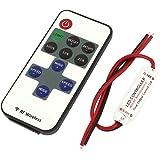 DC 12-24V 30M 11 Keys RF Remote Control Dimmer Switch w LED Controller