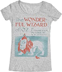 Out of Print Women's Literary Classics Book-Themed Scoop Neck Tee T-Shirt