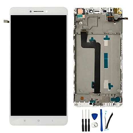 a676c6eb4b9f Amazon.com  SOMEFUN LCD + TP Replacement for Xiaomi Mi MAX Xiaomi MAX Pro  Prime 6.44   Display Touch Screen Digitizer Glass Assembly (White W Frame)   ...