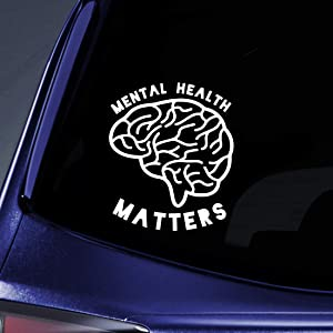 """Bargain Max Decals Mental Health Matters Sticker Decal Notebook Car Laptop 5.5"""" (White)"""