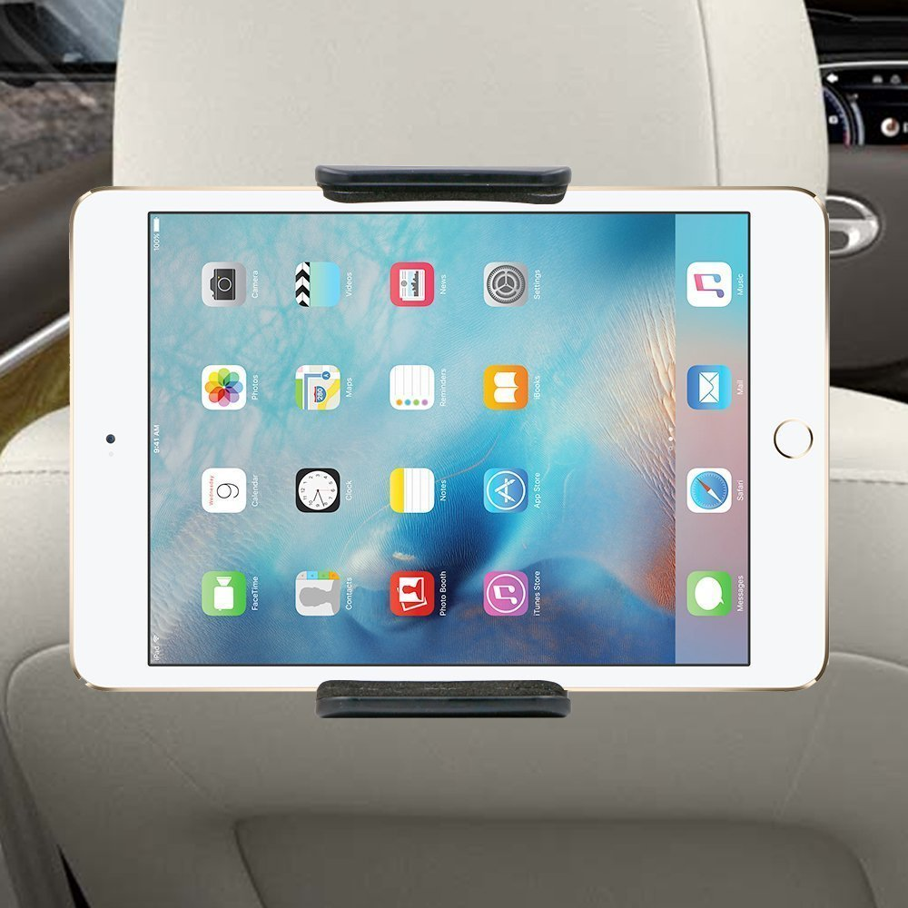 Car iPad Tablet Holder,Tablet Holder, 360 Degree Adjustable Rotating Headrest Car Seat Mount Holder for iPad Pro,iPad Air,Mini/2/3/4, Samsung Galaxy Tab,Tab Pro and other 6-11 Inches Tablets Adtechca