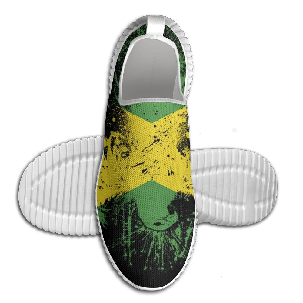 メンズ軽量Road Running Shoesジャマイカno tieエアメッシュ通気性アウトドアスポーツソフトアスレチックスニーカー 46 ブラック eroegrh781-21226316 B077R4LK3H