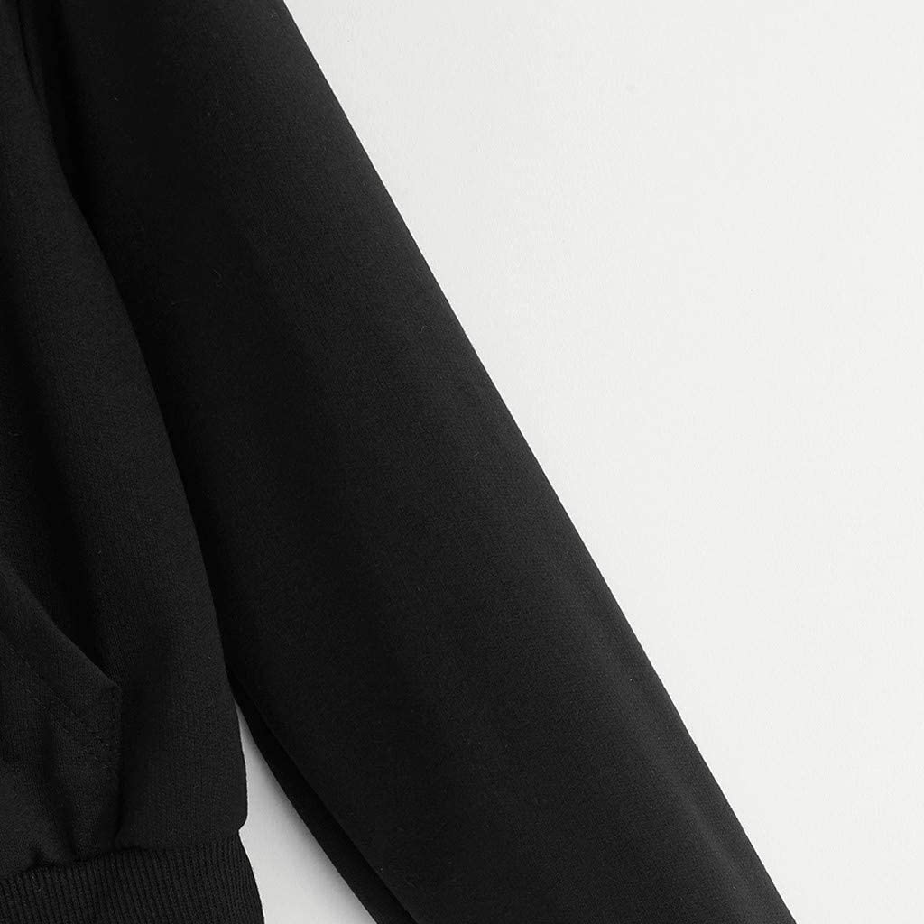 Hoodies for Women Pullover,Womens Casual Loose Long Sleeve Solid Crew Neck Pullovers Blouses Sweatshirt Shirt Tops