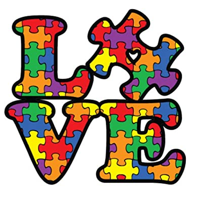 NI284 Autism Awareness Puzzle Piece Car Decal Sticker | Premium Quality Vinyl Sticker | 5-Inches X 5-Inches: Automotive