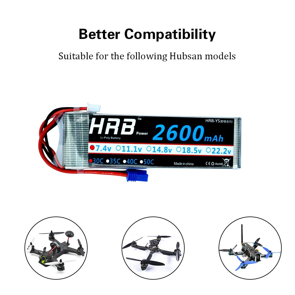 Amazon.com: HRB 2600Mah 7.4V 2S 30C RC Rechargable Lipo Battery with on