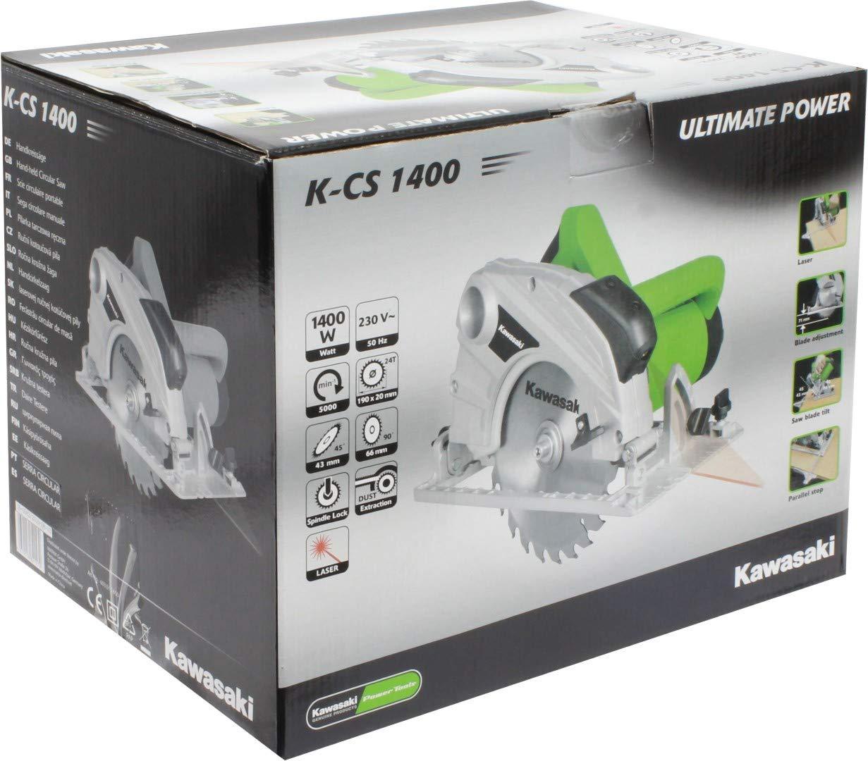 gr/ün Kawasaki 603010650 Handkreiss/äge K-CS 1400 schwarz