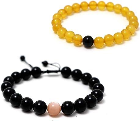 bracelet femme citrine
