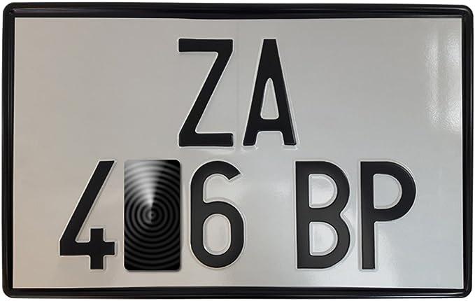Targhe Storiche Srl Nummernschildhalter Kennzeichenrahmen Serie überzogener Metall Schwarz Lackiert Von 1976 Bis 1997 Auto