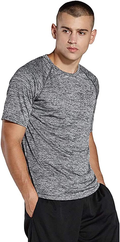 Little Beauty Mens Dry-Fit Moisture Wicking Athletic Performance Crew T-Shirt