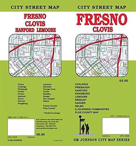 Fresno / Clovis / Hanford / Lemoore, California Street Map
