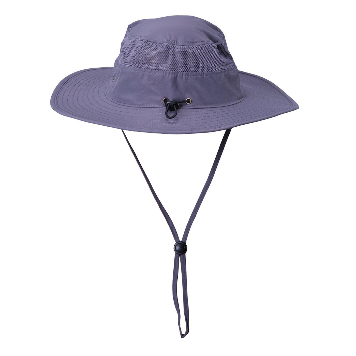 HDE Mens Mesh Bucket Hat Outdoor UV Sun Protection Wide Brim Booney Fishing Cap