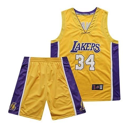 Los Angeles Lakers # 34 Shaquille Oneal Uniforme de baloncesto ...