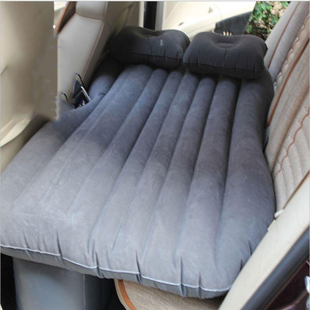 車の旅行のインフレータブルベッドは、パディングドカーの車のマットレスの車のベッドを自転車旅行の車のベッド B07DS6R2LL  グレー