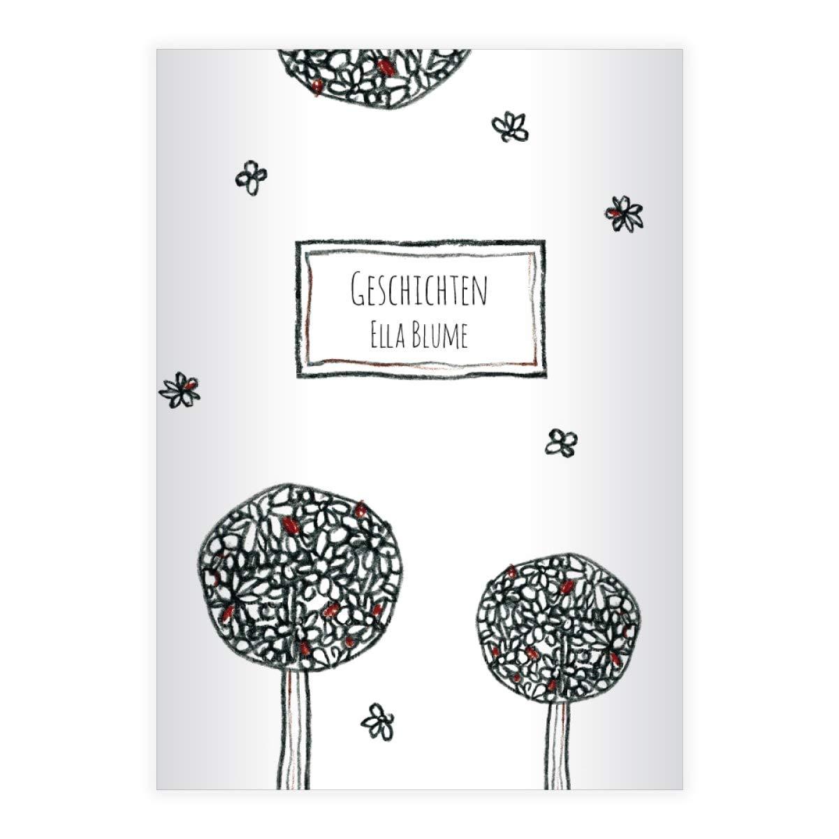 Hermoso cuaderno Doodle DIN A4, cuaderno con árboles ...