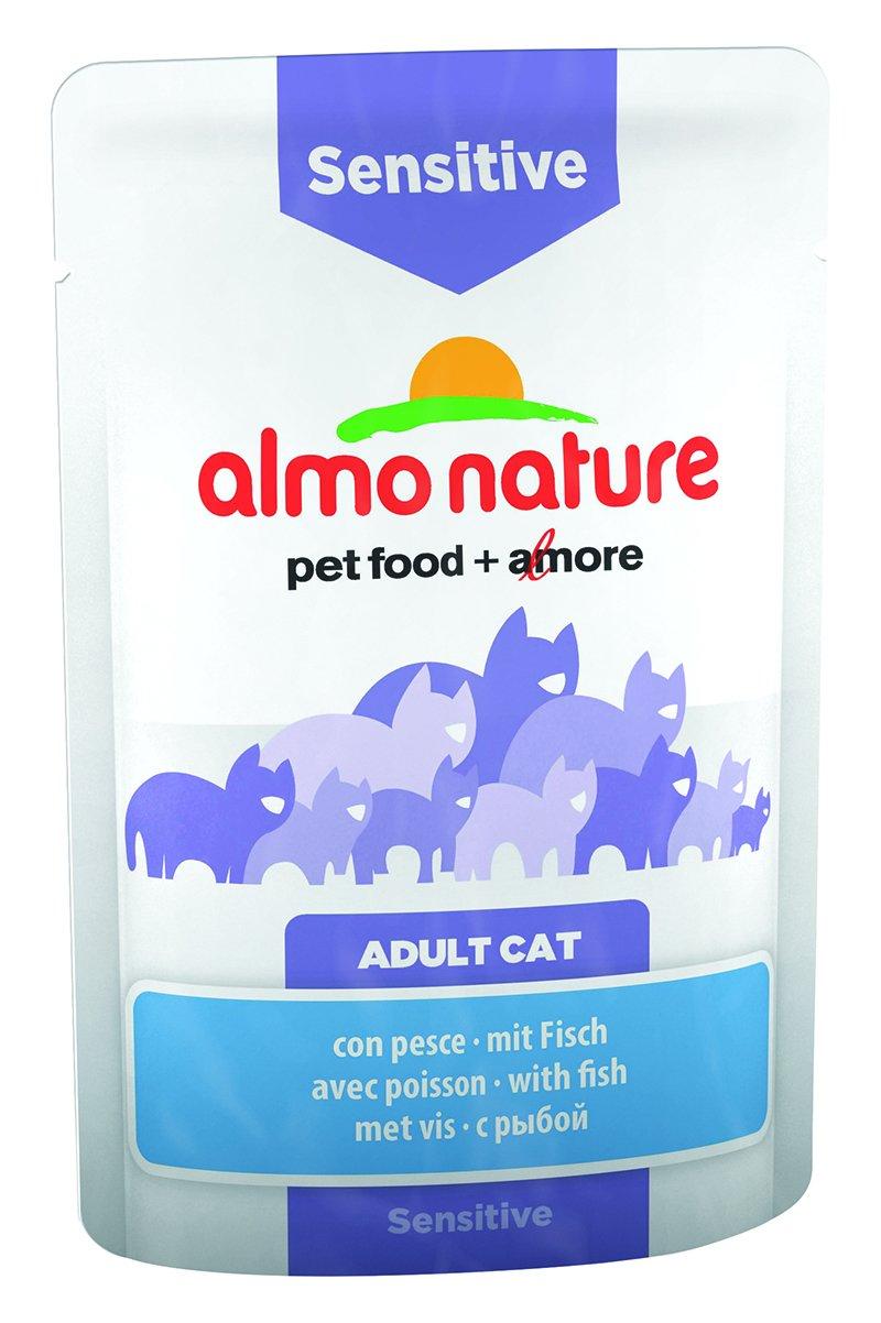 ALMO NATURE - Bolsa funcional de comida para gato sensible, con pescado, 30 x 70 gr: Amazon.es: Productos para mascotas