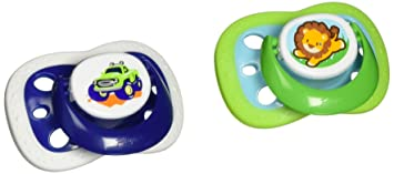 Playtex Binky 0-6M Silicone Pacifiers - 2 CT (Colors and Design may vary)