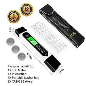 TDS Meter Digital Water Tester, Accurate Professional 4-in-1 TDS