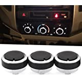 VCiiC Control Knob Heater A/C or Fan, Replacement for Lost or Damaged Control Knobs for Toyota Tacoma