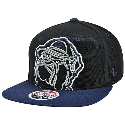 buy online e8766 d8df2 ... france georgetown hoyas black xray adjustable superstar snapback cap  ncaa flat bill zephyr baseball hat 77e30