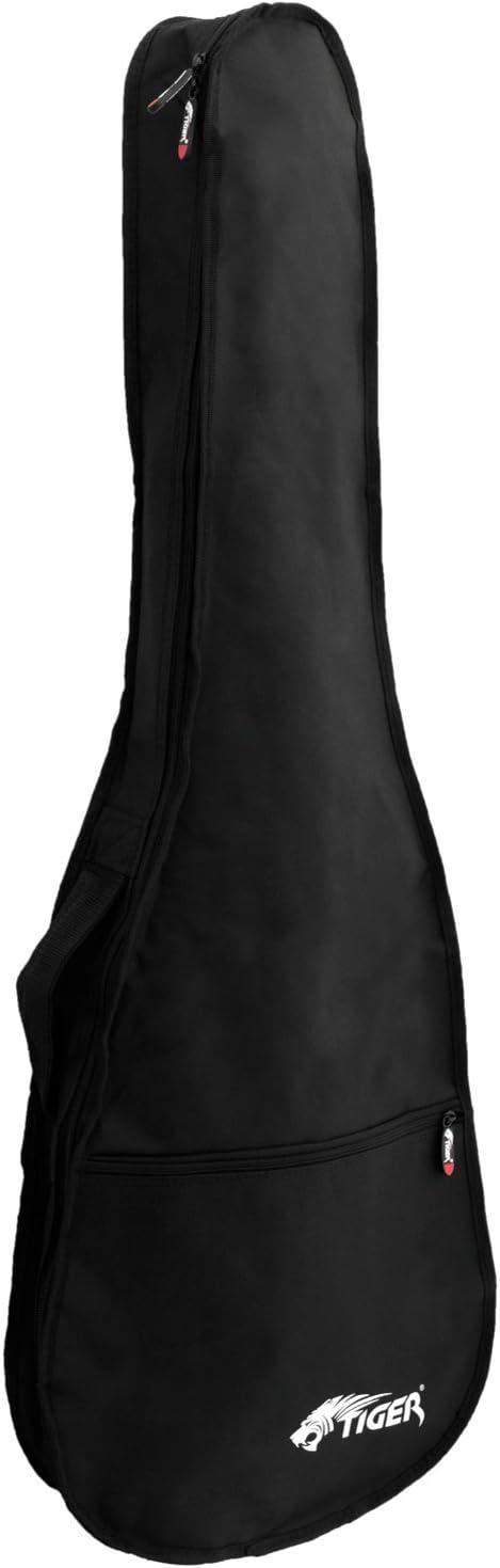 Tiger GGB7-FEL - Funda para guitarra eléctrica tamaño 4/4, negro
