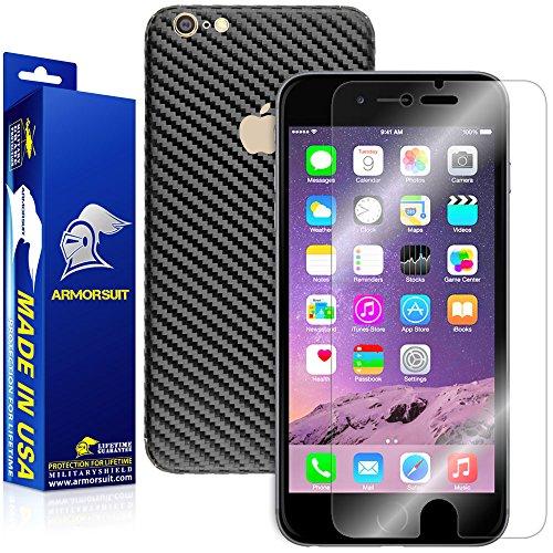 iPhone 7 Plus Screen Protector + Black Carbon Fiber Skin, ArmorSuit MilitaryShield...