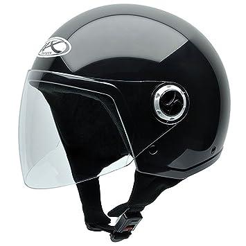 NZI Homologado Casco de Moto, Negro, 57 (M)