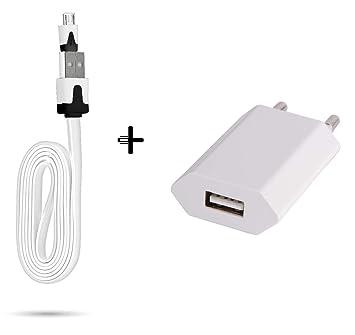 Cable Noodle 1 m Cargador + Toma Corriente para Alcatel 3 x ...