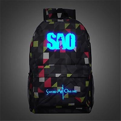 Siawasey Anime Sword Art Online Cosplay Luminous Bookbag Backpack School Bag(3 Styles) cheap