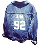 APHT Women Outerwear BTS Kpop Bangtan Boys Jacket Long Sleeve Jeans Chaqueta Coat for A.R.M.Y. Suga Jin Jimin Jung Kook J-Hope Rap-Monster V
