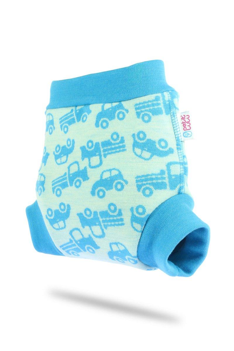 blau Autos Petit Lulu Woll/überhose Gr/ö/ße M 100/% Merinowolle