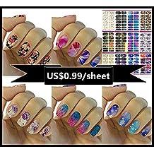 Love Nest Nail Art Tips Stickers False Nail Design Manicure Decals Nail Art Water Nail Art Decal / Tattoo / Sticker (12pcs / set, Series 1)