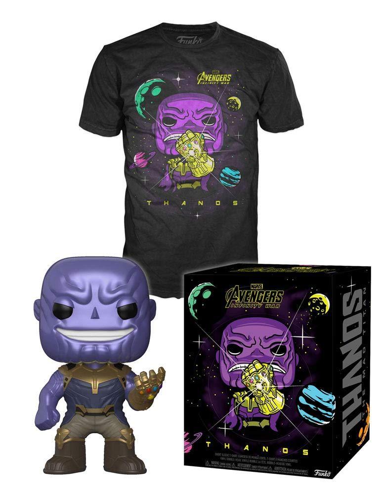 MARVEL - Boxed POP + POP T-Shirt - Infinity War Thanos (M)