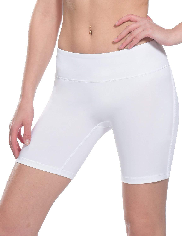 Baleaf Women's 7'' Active Fitness Yoga Running Shorts Pocket White Size M by Baleaf