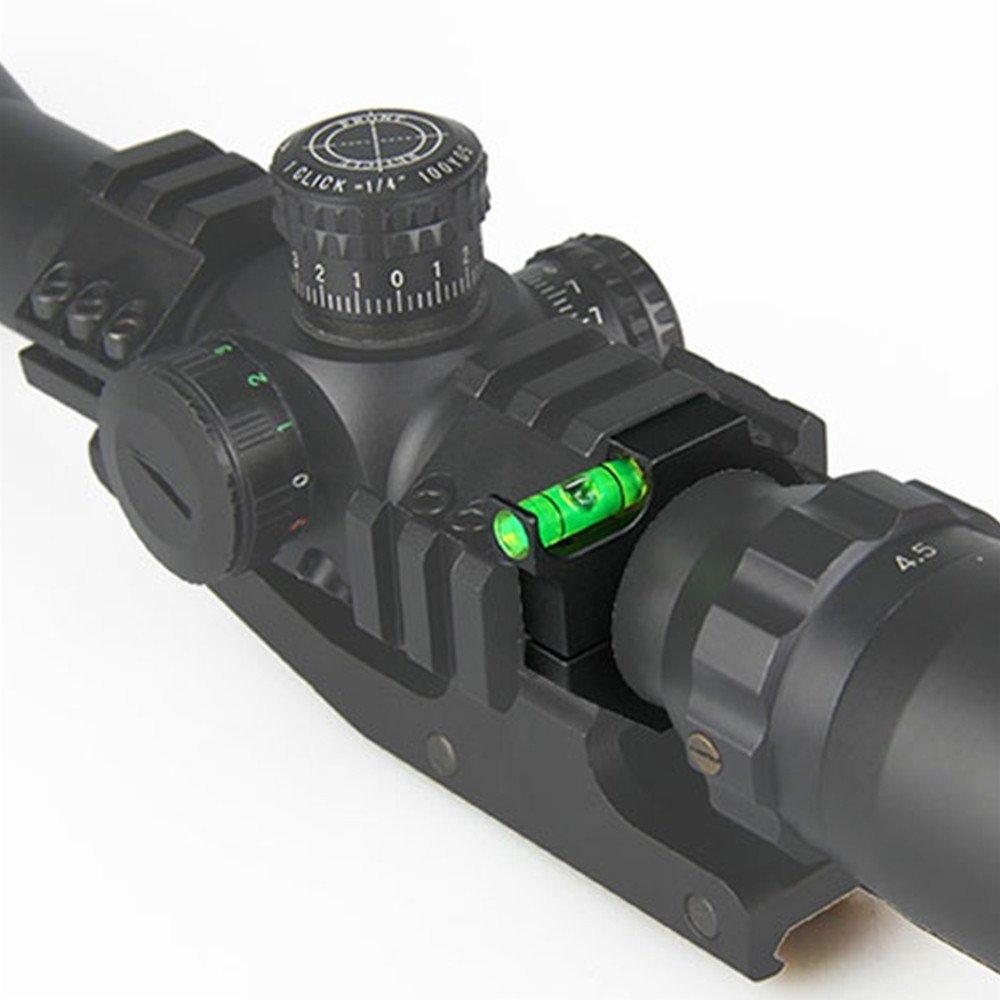 Soporte para anillos de 25,4 a 30 mm para rifle de nivel de burbujas adaptador de ACD para actividades al aire libre UniqueFire