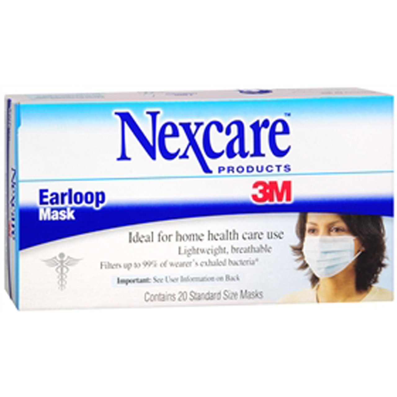 Nexcare Earloop Mask - 20 ea
