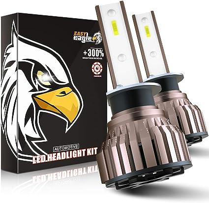H1 LED 10800LM Bombillas para Montaje de Faros Delanteros de Coches, 12V, 6000K: Amazon.es: Coche y moto