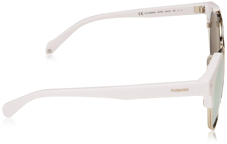 086fcb4038e Amazon.com  Polaroid Sunglasses PLD 6038 s x Polarized Round Sunglasses  White 56 mm  Polaroid  Clothing