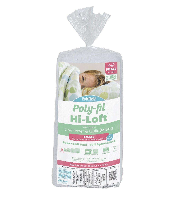 45 x 60 White Fairfield Poly-Fil Hi-Loft Polyester Quilt