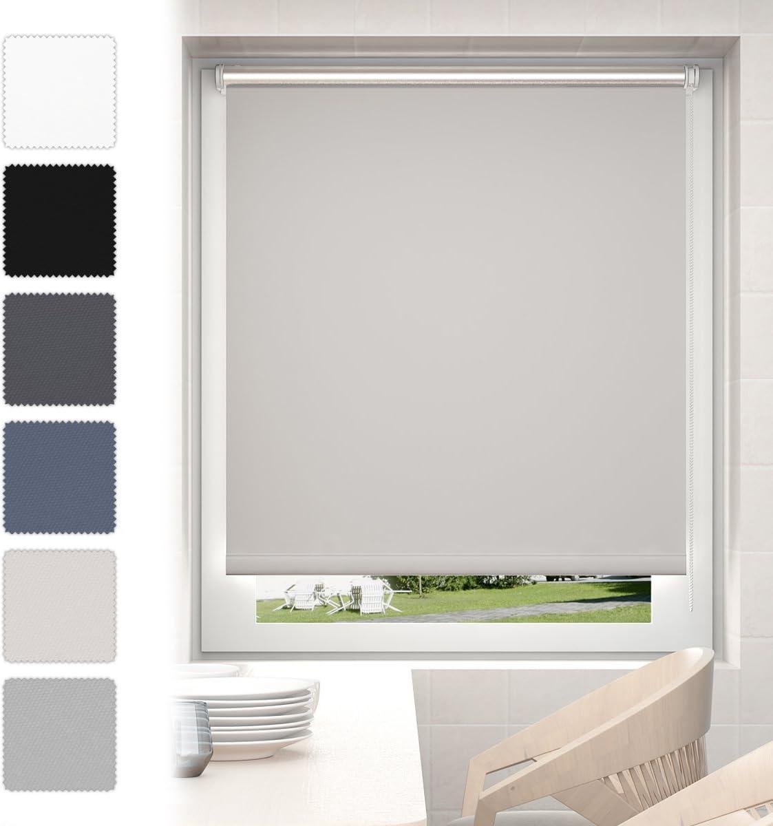 Doppelrollo 75x160cm beige Klemmfix ohne Bohren Vario Seitenzug Duorollo Fenster