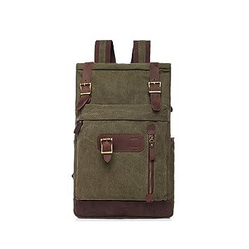 3de2ae494c4df Männer Frauen Rucksack Daypack Wasserdichte Vintage Reißverschluss Leinwand  Wandern Student Outdoor-Shopping Kunstleder Laptop
