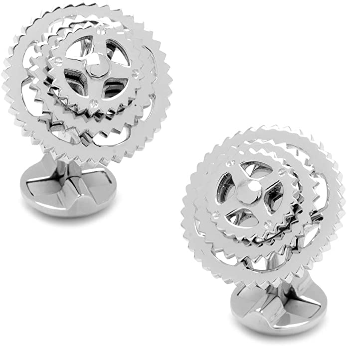 MENDEPOT Sterling Silver Knot Cuff Link Platinum Plated Sterling Silver Knot Cuff Link