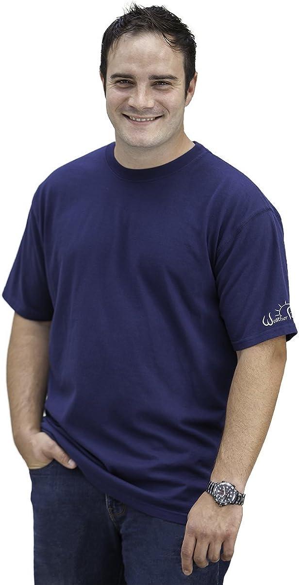 Weather Permitting Camiseta de absorción de humedad–Secado rápido transpirable medio peso Performance Tee