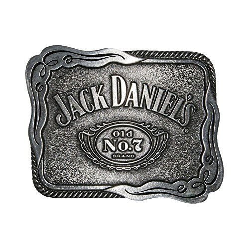 Jack Daniels Buckle - Jack Daniels Men's Daniel's Old No. 7 Belt Buckle Silver One Size