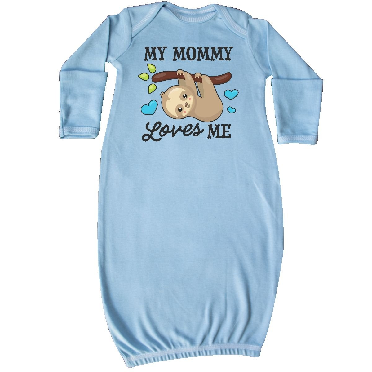 inktastic My Mommy Loves Me With Sloth and hearts Newborn Layette 14-193116-17-140-1418