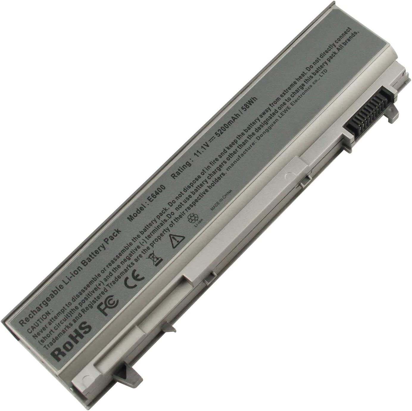 AC Doctor INC 5200mAh Battery for Dell Latitude E6400 E6410 E6500 E6510 Precision M2400 M4400 M4500 M6500 Laptop Battry Replacement 4M529 KY265 PT434 312-0749