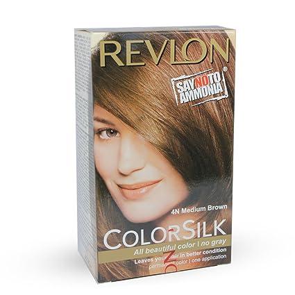 Buy Revlon Colorsilk Hair Color Medium Brown 4n 40ml Online At