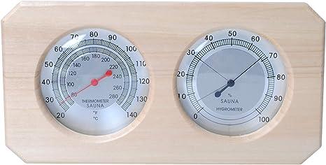 Relsuna Sauna Thermometer in Tropfen-Form aus Holz