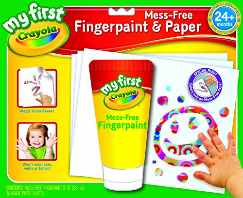 Crayola; My First Crayola; Mess-Free Fingerpaint and Paper; Art Tools; 16 Pages and Brush; The Paint is in the Paper - Color Wonder Finger Paint