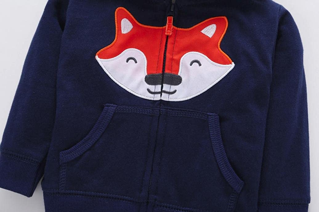 ddfdb00040d4af Amazon.com  Vibola® Christmas Outfits Set Baby Girls Boys Fox Print thicker  Hoodie Coat +Pants+Romper  Clothing
